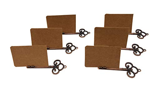 Name Place Card Holder,Antique Copper Wedding Guests Table Holders,Number Recipe Holders, Memo Photo Holder,Card Note Clip,Decorations For Restaurants Rustic Weddings Banquets Set of 10 (Bronze-10 H)