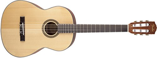 Fender FC-100 Classical Nylon String Acoustic Guitar Pack with Tuner, Picks, Strings, and Gig Bag - Natural