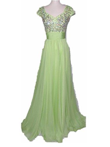 Madison James Beaded Chiffon Modest Full Length Gown, 15-225