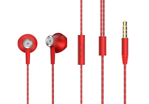 Granvela Fairy All Metal Hi Fidelity Earbuds with Microphone (Red) For Sale