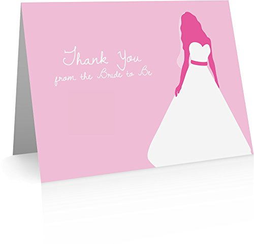 Bridal Shower Thank You from Bride to be Cards (24 Cards and Envelopes) Bridal Shower (Bridal Shower Thank You Cards)