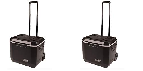 Coleman 50-Quart Xtreme 5-Day Heavy-Duty Cooler with Wheels, Black/Pack of 2 by Coleman (Image #2)