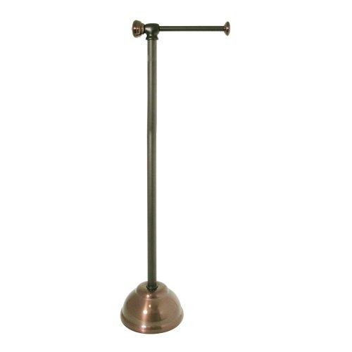 InterDesign York Metal Free Standing Toilet Paper Holder - Storage Stand for Bathroom, Split Bronze - York Toilet Tissue Stand