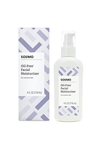 Amazon Brand - Solimo Oil-free Facial Moisturizer for Sensitive Skin, 4 Fluid Ounce