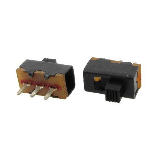 50 Pcs x 2 Position 1P2T SPDT 3 Pin panneau PCB Mont Mini Vertical interrupteur à glissière DealMux DLM-B007QAJST6
