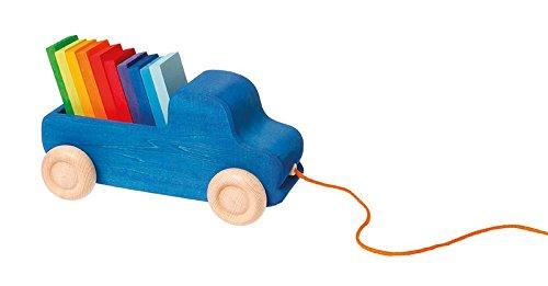Grimm's 09040 - Nachziehspielzeug Lastwagen blau