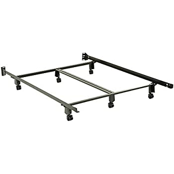 Fashion Bed Group Inst A Matic Premium Bed Frame 761r With Headboard Brackets And 6 2 Inch Locking Rug Roller Legs Black Finish Queen