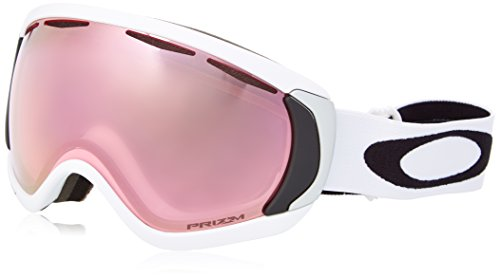 Oakley Men's Canopy Snow Goggles, Matte White, Prizm Hi Pink, Large (Oakley Snowboard Goggles Pink)