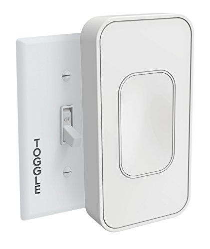 Switchmate Smart Light Switch, Wire-Free Easy Install No Tools Needed, Snaps Over Existing Switch, Works with the Google Assistant, Multiple Timers, Voice Control, Auto On/Off