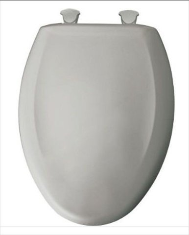 no slam toilet seat hinge. Bemis 1200SLOW162 Plastic Elongated Toilet Seat with Whisper Close Hinges  Silver