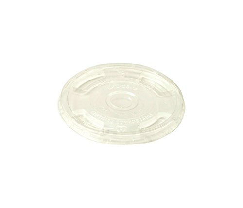 World-Centric-CPL-CS-12-Compostable-Ingeo-Cup-Flat-Lids-10-oz-24-oz-Clear-Pack-of-1000