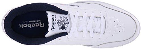 Reebok Hommes Club Memt Classique Sneaker Blanc / Collégial Marine