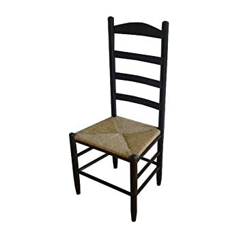Dixie Seating 143401 OG 47436 O 177636 42 In. Woven Seat Ladderback Chair  Medium Oak, Beige