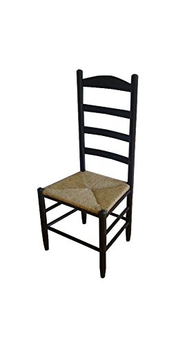 (Dixie Seating 42 in. Woven Seat Ladderback Chair, Medium Oak 143401-OG-47436-O-177636, Beige)