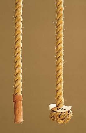 Turks Head - Spalding Manila 24' Climbing Rope with Turks Head Knot from