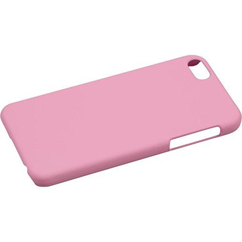 PhoneNatic Case für Apple iPhone 5 / 5s / SE Hülle rosa gummiert Hard-case für iPhone 5 / 5s / SE + 2 Schutzfolien