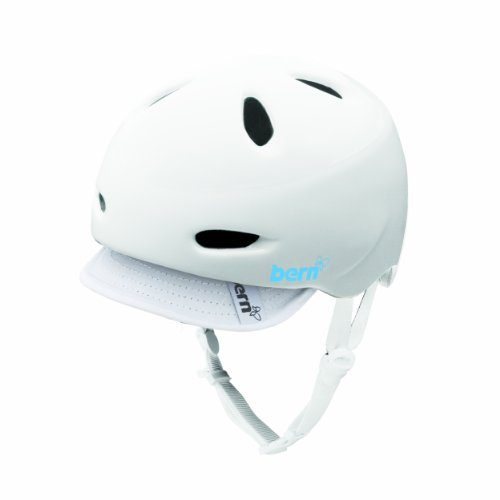 Bern Berkeley Gloss White with Grey Knit Helmet - Knit Helmet Berkeley