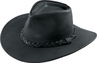 (Australian Shapeable Leather Outback Hat)
