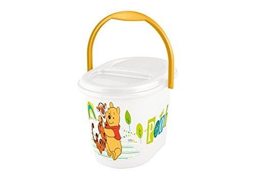 Nappy Bucket - Plastorex Nappy Bucket White with Decoration by TKO