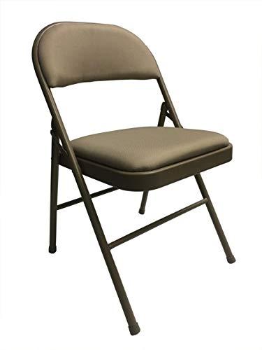 realspace (R) tapizado acolchado silla plegable, marrón ...