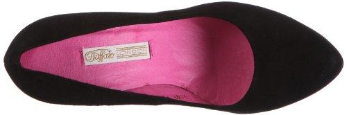 Buffalo London 9669-198 - Zapatos de vestir de cuero para mujer Negro