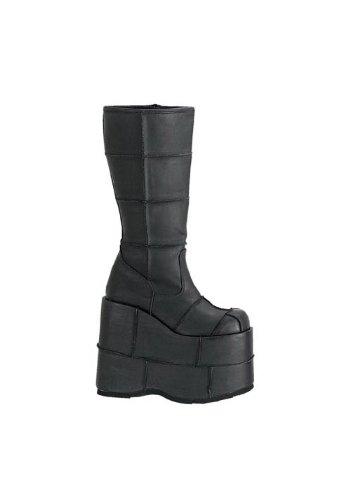 - Pleaser Men's Stack-301 Platform Boot,Black PU,5 M US