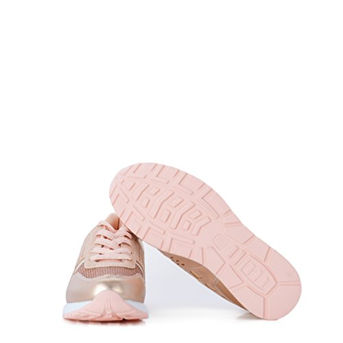 Sneakers Picado Con Color Casual En Altamoda Rosa Zapatillas An5qgFwa