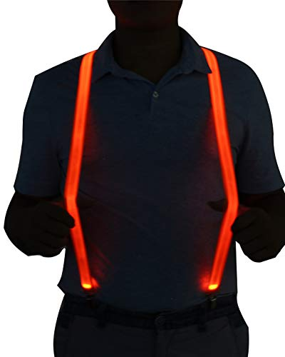 LED Light Up Illumination Suspenders for Party Favor (Easy Halloween Costumes To Work Out In)