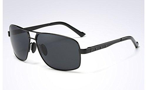 Sunglasses BLACK polarizadas VERDE TL Moda Gafas de gafas BLACK sol GRAY Hombre Mens sol de Gafas GRIS sol de d66Trxwq7