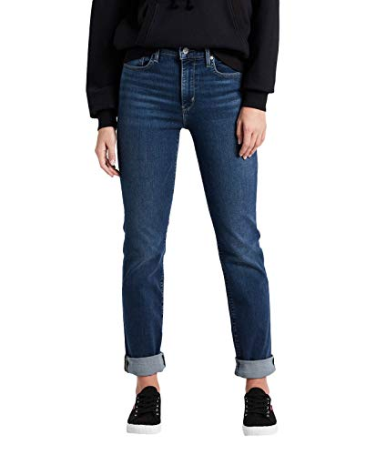 Rise 28 Pants 724 Straight Blue Level Levi's 30 High Woman Txf16wE8