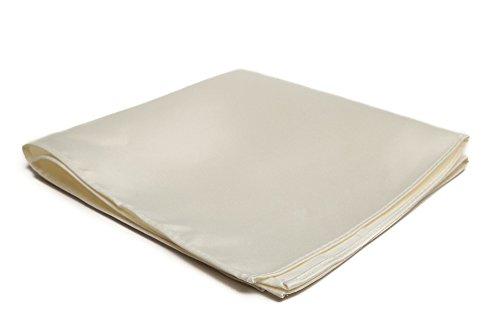 Jacob Alexander Men's Pocket Square Solid Color Handkerchief - Cream