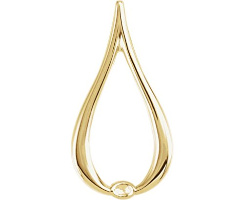 Teardrop Freeform Pendant (Tear Drop Freeform Pendant, 18k Yellow Gold)