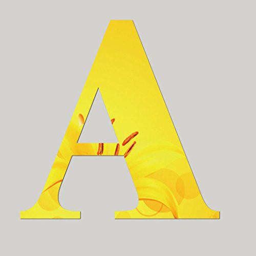 DIY Letters (A~Z) Heart and Symbol Art Wall Stickers,Highpot Big Sale Acrylic Removable Home Art Decor Office Shop Nursery Baby Room Stickers (A)
