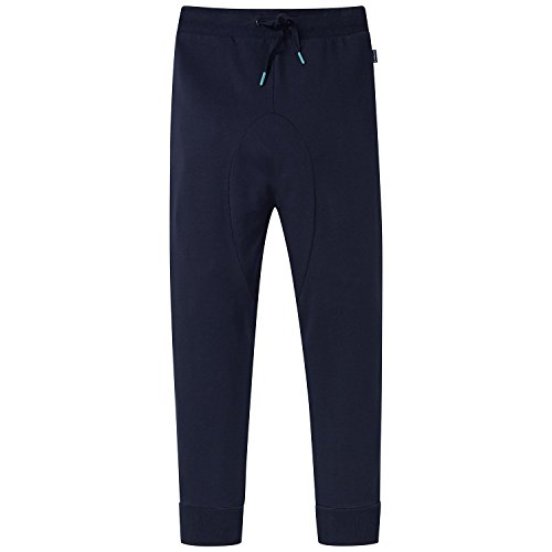 Schiesser Jungen Schlafanzughose Mix&Relax Joggpants, Blau (Nachtblau 804), 164