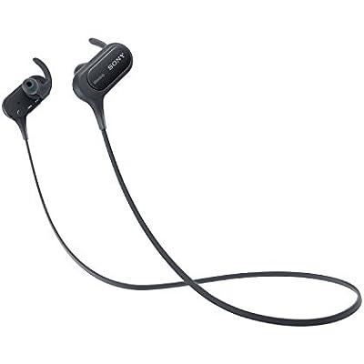 Sony MDR-XB50BS Extra Bass Bluetooth Sports Splashproof In-Ear Headphones     Black