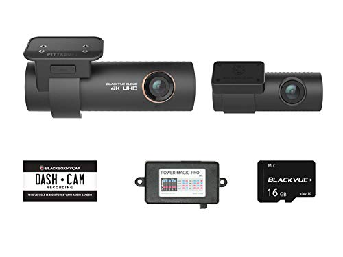 (Blackvue DR900S-2CH with Power Magic Pro Hardwire Kit 2-Channel | 4K Dashcam | 16GB SD Card)