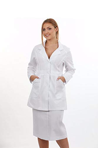 Womens 40 INCH LAB Coat by Natural Uniforms with Multipack - Coat Womens Lab Long
