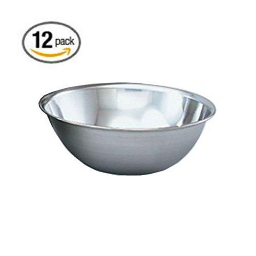 Case Bowl Mixing - Vollrath 47932 Mixing Bowl, 7-3/4 Diameter, Stainless Steel, 1-1/2 Quart (Case of 12) (12, 1-1/2 Quart)