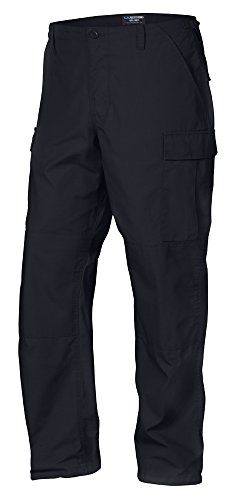 LA Police Gear Men Rip-Stop Mil-Spec BDU Button Fly Tactical Pant - Navy - 2Xlarge/Long