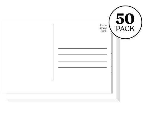 Jot & Mark Design Your Own Postcards | Blank Plain Mailable 4x6 Postcards on Heavy Cardstock (50 Pack) | Favorite Kids Activity, Personal Announcements, Write Your Representative