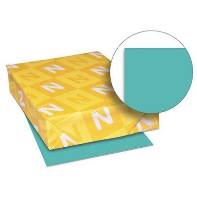 Exact Brights Paper, 8 1/2 x 11, Bright Aqua, 50 lb, 500 Sheets/Ream, Sold as 1 Ream, 500 per Ream