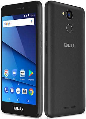 Blu Studio J8M Unlocked Android Cell Phone 16GB + 2GB 4G LTE Android V 7.0(Black)