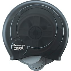 Georgia-Pacific Compact 56781 Translucent Smoke High Capacity Coreless Bathroom Tissue Dispenser (Keyless)