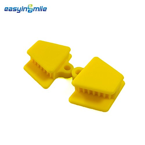 Easyinsmile Autoclavable Dental Silicone Mouth Prop Bite Block Latex Free 2pcs/pack (yellow)