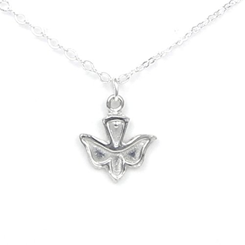 Pewter Holy Spirit Dove Necklace - Gift packaged with Peace and Joy Story Card - Made in USA