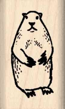 Ground Hog Rubber Stamp – 3/4 inch x 1-1/4 inches