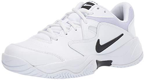 (Nike Women's Court Lite 2 Sneaker, Black-White-Oxygen Purple, 10 Regular US)