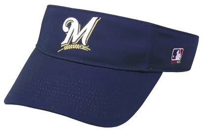 Milwaukee Brewers Officially Licensed MLB Adjustable Velcro Adult Visor
