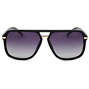 "PRIVÉ REVAUX ICON Collection ""The Bruce"" Handcrafted Designer Polarized Aviator Sunglasses Men & Women (Black)"