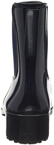 Jellino Damen Regenstiefelette Gummistiefel Blau (Blau 61)
